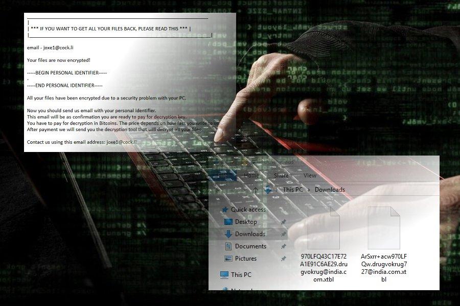 Virus .xtbl fotografija