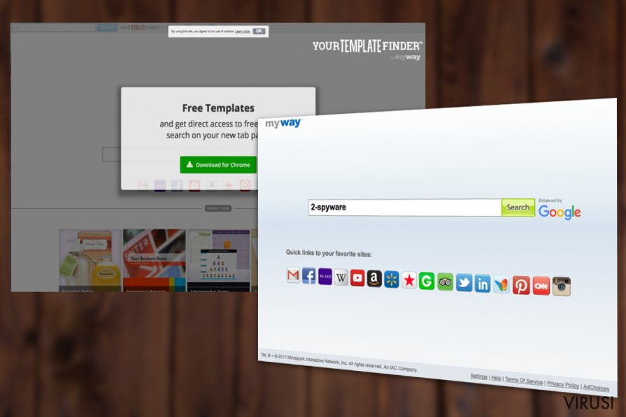 Virus Your Template Finder Toolbar fotografija