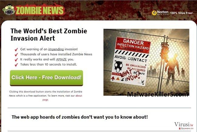 Adware Zombie News fotografija