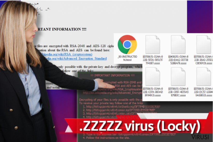 Zzzzz ransomware virus fotografija